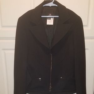 Versace womens belted jacket blazer polyester